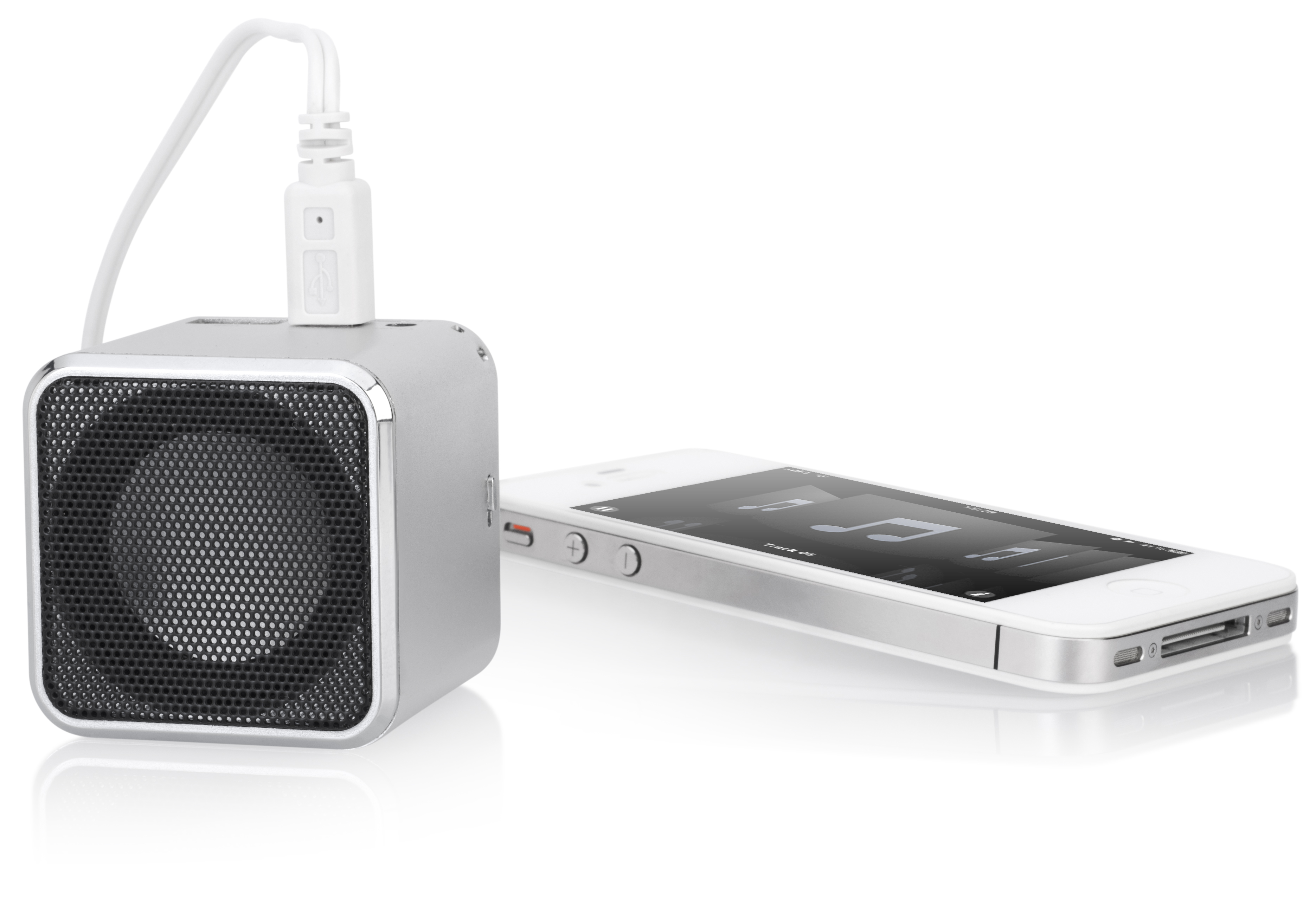 The Cube Clock Radio Portable Speaker Express Impressions Inc